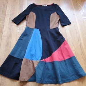 Boden patchwork color block dress 10